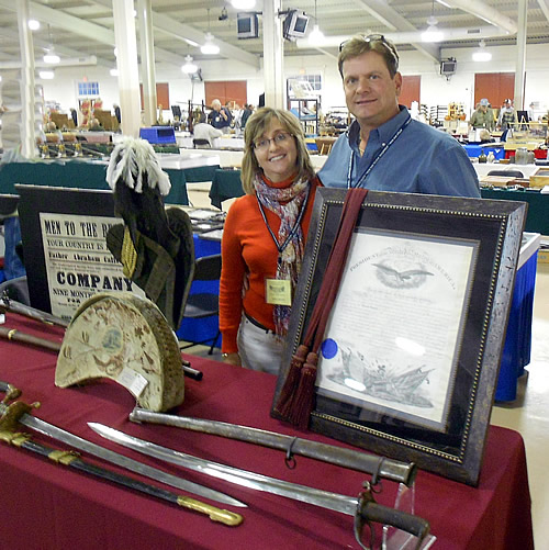 Rick and Tammy Burton at the November, 2014 Richmond Civil War Show